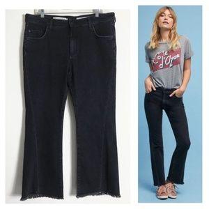 Pilcro high-rise flare twist seam cropped jeans 32